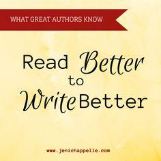 Read Better to Write Better | Jeni Chappelle