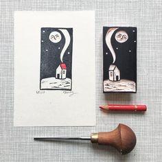 Lino Art, Stamp Carving, Handmade Stamps, Linoprint, Tiny Prints, Stencil, Linocut Prints, Art Plastique, Woodblock Print