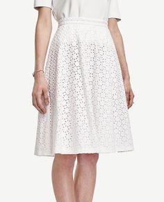 9caa488c1 Image of Diamond Eyelet Skirt Eyelet Skirt, Lace Skirt, Midi Skirt, White  Outfits