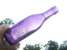 rare Amethyst coke bottle circa 1901, straight sided and large script
