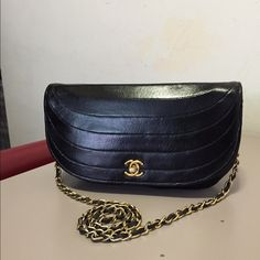Authentic Chanel Half Moon Crossbody Excellent condition. Vintage and does shoq some age but its clean and serial sticker still attached although unreadable. Bag only. CHANEL Bags Crossbody Bags