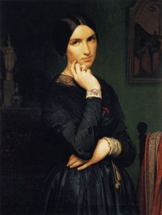 Portrait of Madame Flandrin by Hippolyte Flandrin, 1846.