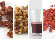 Visste du att Açaibär innehåller 30 gånger mer antocyanin än ett glas rött vin, och rött vin ska ju vara så nyttigt. Superfrukerna är många och laddade med massor av näring. Läs mer och hitta de superfrukter du behöver komplettera din kost med.
