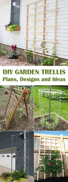 12 DIY Garden Trellis Plans, Designs and Ideas - #gardening