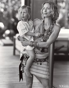 Patti Hansen, Keith Richards and family, Parrot Cay. Shot by Bruce Weber.