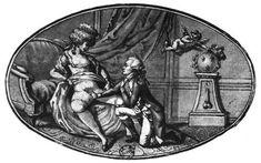 Una stampa satirica dedicata a Maria Antonietta. La Fayette giura sulla Costituzione