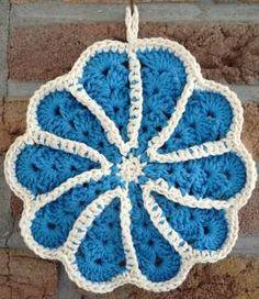Blauwe pannenlappen