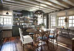 Combine and Stylish: House tour- A country and refined Tennessee log cabin! Combine and Stylish: House tour- A country and refined Tennessee log cabin! Cabin Design, Cabin Style, Rustic House, Cottage Design, Cabin Interiors, Log Cabin Designs, Home, Cabin Decor, Rustic Room