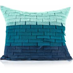 Pyar Co. Panni Decorative Pillow (790 CNY) ❤ liked on Polyvore featuring home, home decor, throw pillows, blue throw pillows, blue accent pillows, blue toss pillows and blue home decor