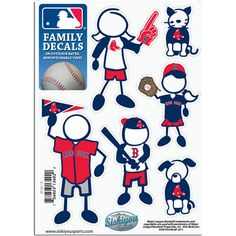 Boston Red Sox Family Decal Small Package