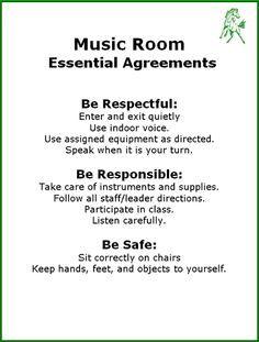 Music Room agreements