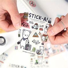 $0.48 (Buy here: https://alitems.com/g/1e8d114494ebda23ff8b16525dc3e8/?i=5&ulp=https%3A%2F%2Fwww.aliexpress.com%2Fitem%2FDIY-Cute-Kawaii-Transparent-PVC-Stickers-Lovely-Cartoon-Bear-Sticky-Paper-For-Home-Decoration-Diary-Free%2F32702883068.html ) DIY Cute Kawaii Transparent PVC Stickers Lovely Cartoon Bear Sticky Paper For Home Decoration Diary Free Shipping 968 for just $0.48