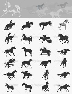 Buy Collection of by aleksandr-mansurov-ru on GraphicRiver. Set of icons of horses. A vector illustration Silhouette S, Running Silhouette, Horse Template, Free Business Card Templates, Templates Free, Horse Logo, Web Design Inspiration, Stone Painting, Beautiful Creatures