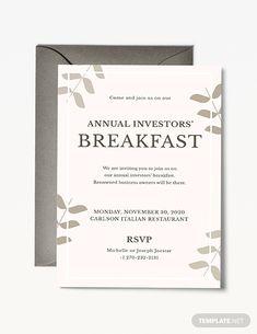Annual Meeting Invitation Event invitation design