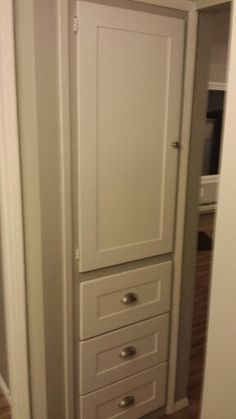 Added Trim On The Old Hall Closet Doors And Drawers, New Hardware For An  Updated