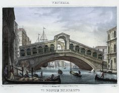 Venezia, il ponte di Rialto (National Library of Poland - 1847, lithography)