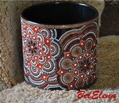 Фото, автор morozova-post на Яндекс.Фотках Painted Jars, Pictures To Paint, Stone Painting, Folk Art, Cuff Bracelets, Ceramics, Mugs, Fabric, Handmade