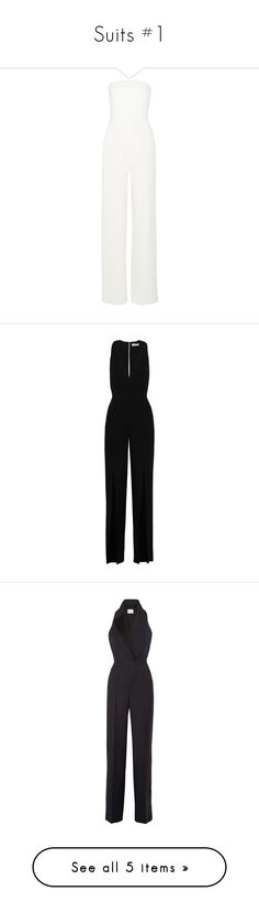 """""""Suits #1"""" by anaandr ❤ liked on Polyvore featuring jumpsuits, dresses, rompers, jump, jumpsuits/rompers, white, white romper jumpsuit, romper jumpsuit, white romper and white strapless jumpsuit"""