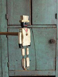 Folk Art Dancing Man Toy Ragtime Wooden Jig Doll on Etsy, $70.00
