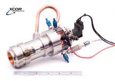 Miniature rocket engine.