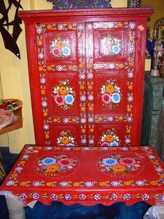 Mexican Painted Furniture | Que Chula Style Mexican Goods ABQ - Hand Painted Furniture - Mexican ...