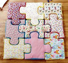 Puzzle-Bodenkissen Nähanleitung mit Schnittmuster - Nähanleitungen bei Makerist
