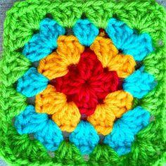 Nice colors granny square
