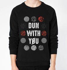 Dun With You (twenty one pilots) Crewneck Fleece Sweater (Unisex) - CrewWear
