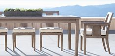RH's Dining Outdoor Dining Set, Outdoor Living, Outdoor Furniture Sets, Dining Table, Outdoor Decor, Back Patio, The Fresh, Restoration Hardware, Home Furnishings