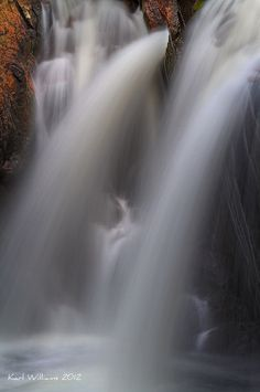 Horsetails by Karl Williams, via 500px; Achriabhach Falls, Water of Nevis, Glen Nevis