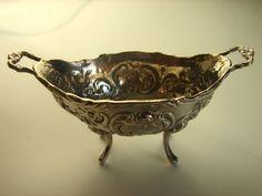 zauberhafte, antike Saliere, Salzgefäß, 800er Silber