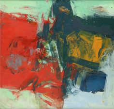Henry  Jackson - Henry Jackson at Seager Gray Gallery shows Untitled 1088 a painterly abstract figure in oil and cold wax in Mill Valley California San Francisco Bay Area