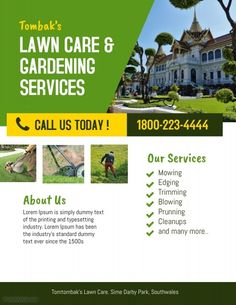 Free Lawn Care Flyer Templates | Projects to Try | Pinterest | Lawn ...