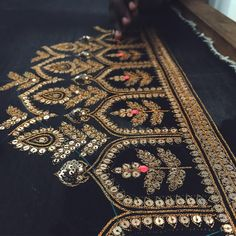 Colors & Crafts Boutique™ offers unique apparel and jewelry to women who value versatility,… - Zardosi Embroidery, Hand Embroidery Dress, Couture Embroidery, Types Of Embroidery, Embroidery Suits, Indian Embroidery, Gold Embroidery, Hand Embroidery Designs, Embroidery Stitches