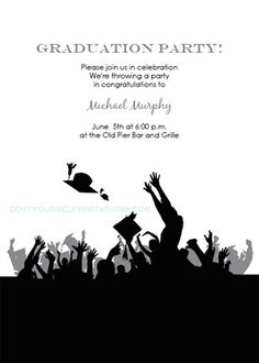 Free Printable Graduation Party Invitations Party Invitations - Free templates for graduation party invites