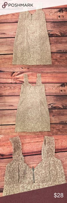 """Intimately Free People Bodycon Slip Pre-loved in good condition.  Free People Smocked Printed Bodycon Dress   70% Cotton 36% Nylon 4% Spandex Machine Wash Cold  Measurements for size SP (garment laid flat measured across): Bust: 14"""" Waist: 13.5"""" Hips: 15.25"""" Length: 30"""" Free People Dresses Mini"""