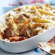 Try this homely classic, a sausage pasta bake recipe using Quorn sausages, onions, carrots and tomatoes to create a family-friendly meal.