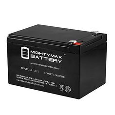 12V 12Ah F2 BATTERY FOR WILDERNESS ENERGY STANDUP ELEC SCOOTER  Mighty Max Battery brand product *** Find out more about the great product at the image link.