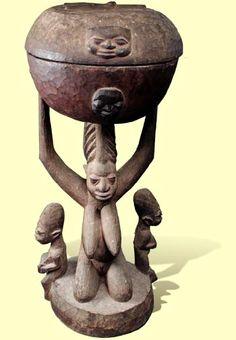Arugbá Ṣàngó (Bowl found in the Ṣàngó Shrine). Ṣàngó is the Yorùbá god of lightning, thunder. Yoruba, Thunder And Lightning, First Humans, African Masks, African Fabric, National Museum, Tribal Art, Natural History, Fabric Design