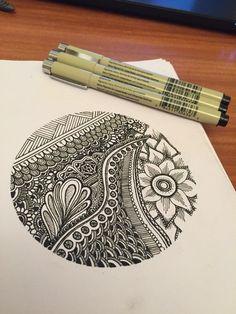 My doodle design #henna #art #pattern #pen #detail