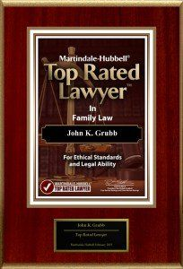 Martindale-Hubbell Top Rated Lawyer in Family Law - Family law attorney John K. Grubb