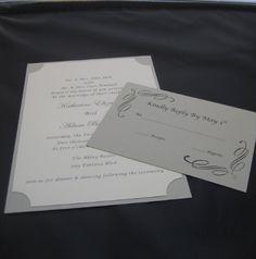 Custom Hand Made Wedding Invitation on Etsy, $40.00