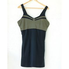 "Nike Workout Dri-Fit Dress (XL) ❤️ BUNDLES  ❤️ Discounts on Budles  ❌ NO TRADES  ❌ NO Low Balling!!   • Pre-Owned •  - Olive green and black - Built-in Bra  *MEASUREMENTS: - Size: XL - Length: 33"" Approximately   *MATERIAL: - Body: 92% Polyester, 8%Spandex - Panels: 87% Polyester,13% Spandex - Bra: 88% Polyester, 12% Spandex Nike Dresses Mini"