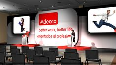 ADECCO Convention created using 3D Max and Photoshop