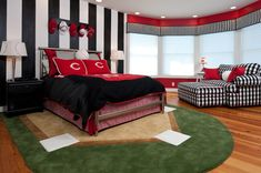 This is a Bedroom Interior Design Ideas. House is a private bedroom and is usually hidden from our guests. Much of our bedroom … Boys Baseball Bedroom, Boy Sports Bedroom, Boys Bedroom Decor, Bedroom Ideas, Teen Bedroom Boys, Baseball Kids, Boy Bedrooms, Reds Baseball, Baseball Field