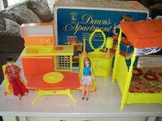 Topper Dawn Doll~~Dawn's Apartment with Dawn and Gary Dolls