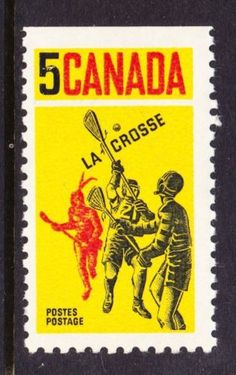 CANADA-NO-483-LACROSSE-with-a-Straight-Edge-MINT-NH