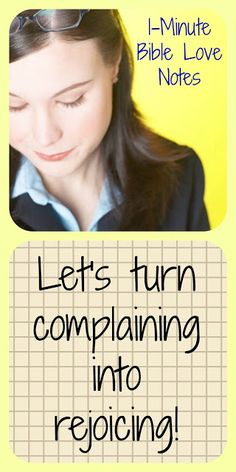 Stop whining and complaining