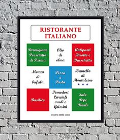 Ristorante italiano, a vintage style art print for home decoration. In my online Etsy shop.