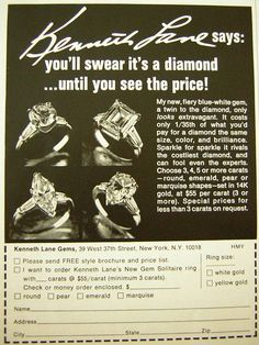 1969 Kenneth Lane jewelry ad